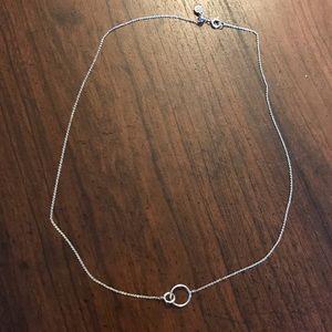 Gorjana Silver Wilshire Charm Adjustable Necklace